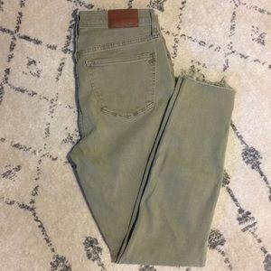 "madewell 9"" high waist skinny jeans - size 27"